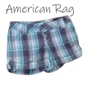 Brown Plaid American Rag Shorts